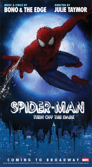 Spider-Man: Turn Off the Dark promotional poster.