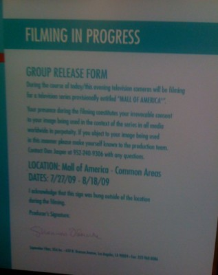 mall release sign